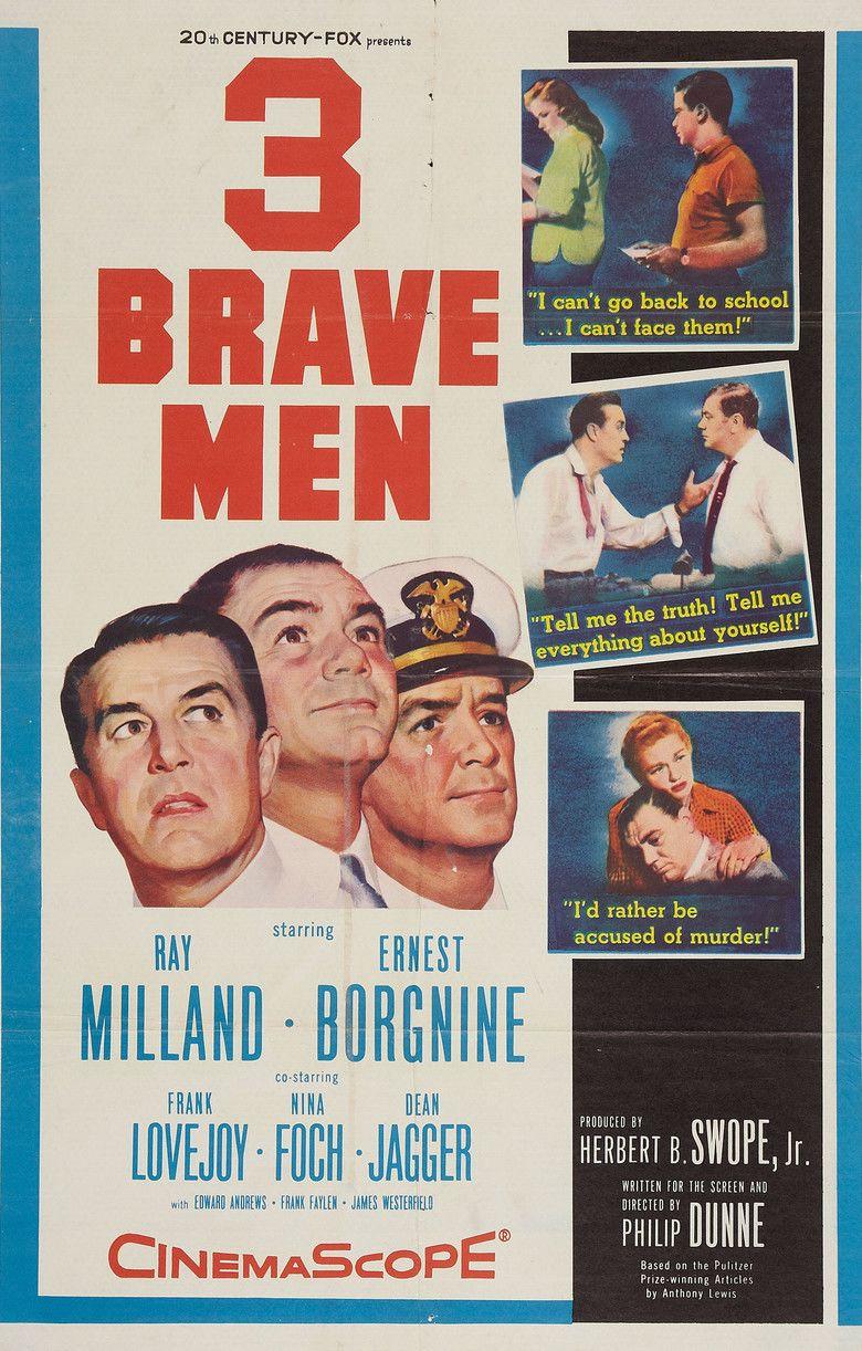 Three Brave Men movie poster
