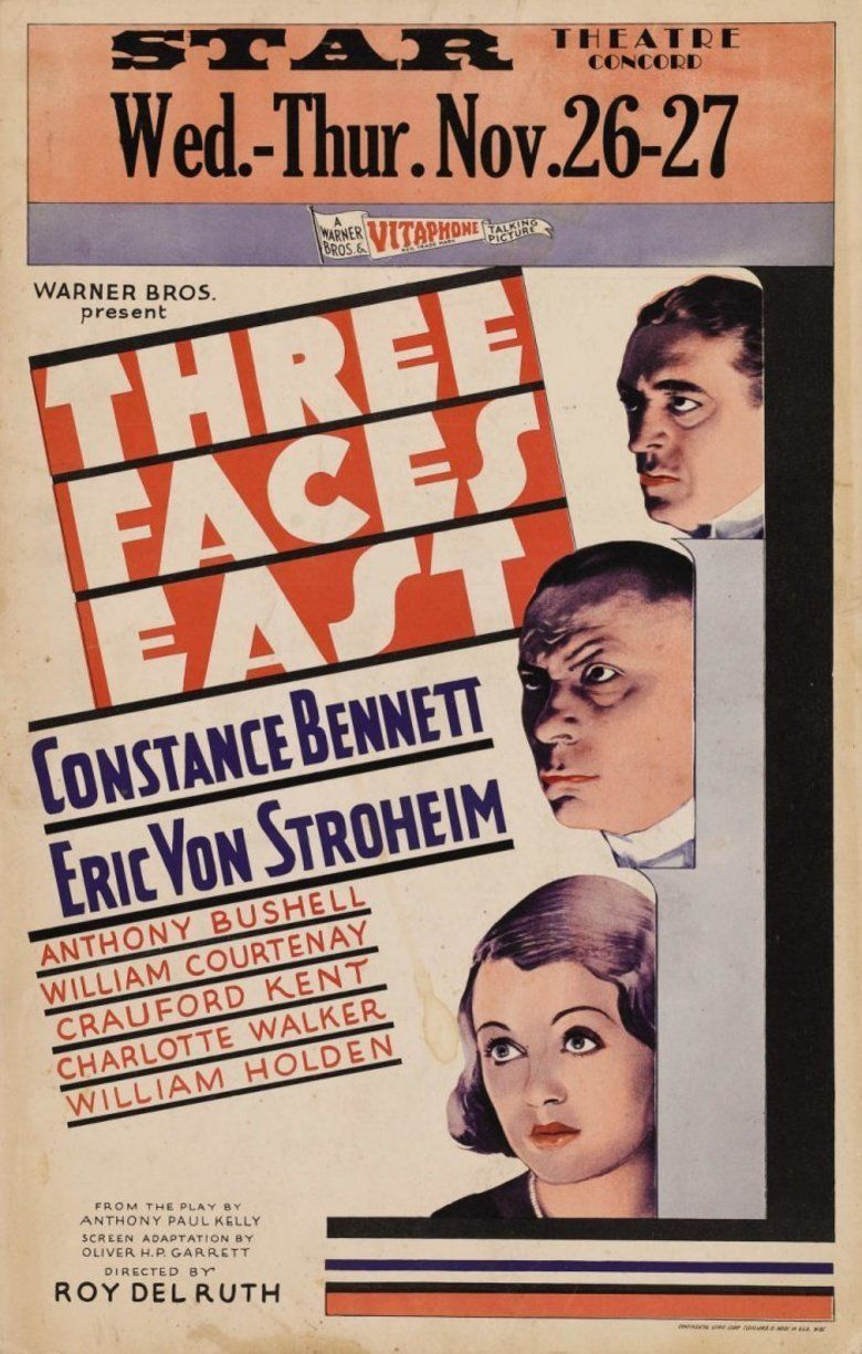 Three Faces East (1930 film) movie poster