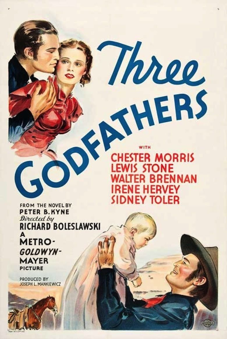 Three Godfathers (1936 film) movie poster