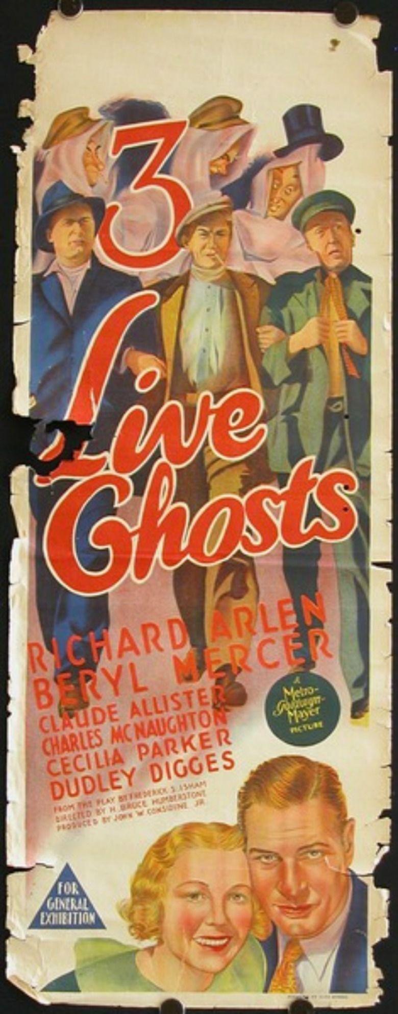 Three Live Ghosts (1936 film) movie poster