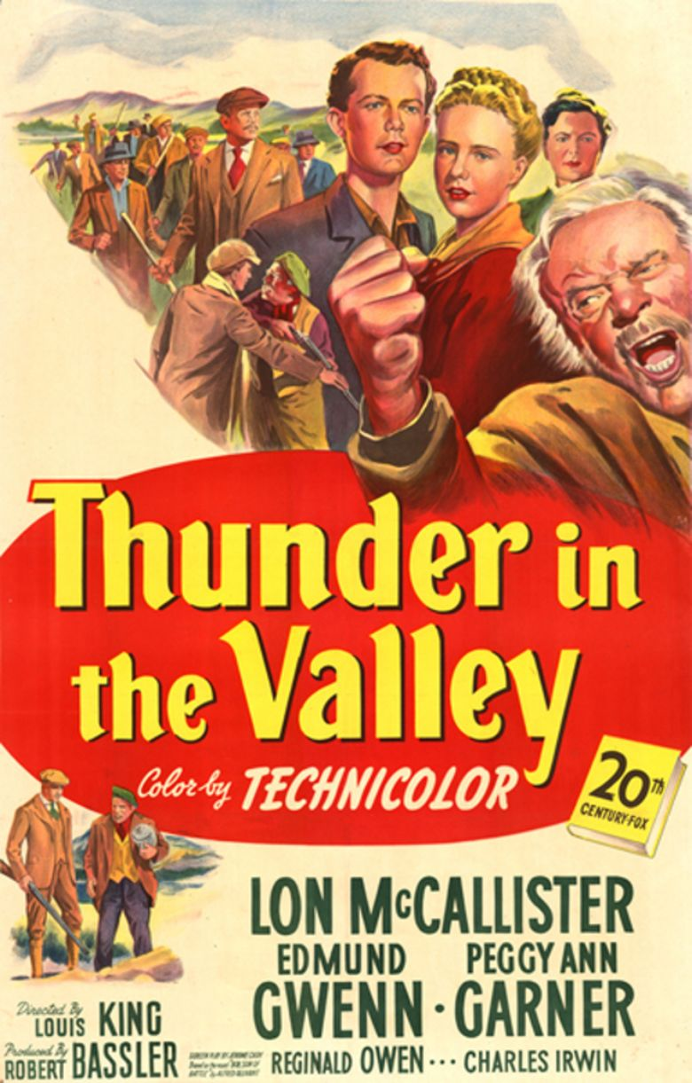 Thunder in the Valley (film) movie poster