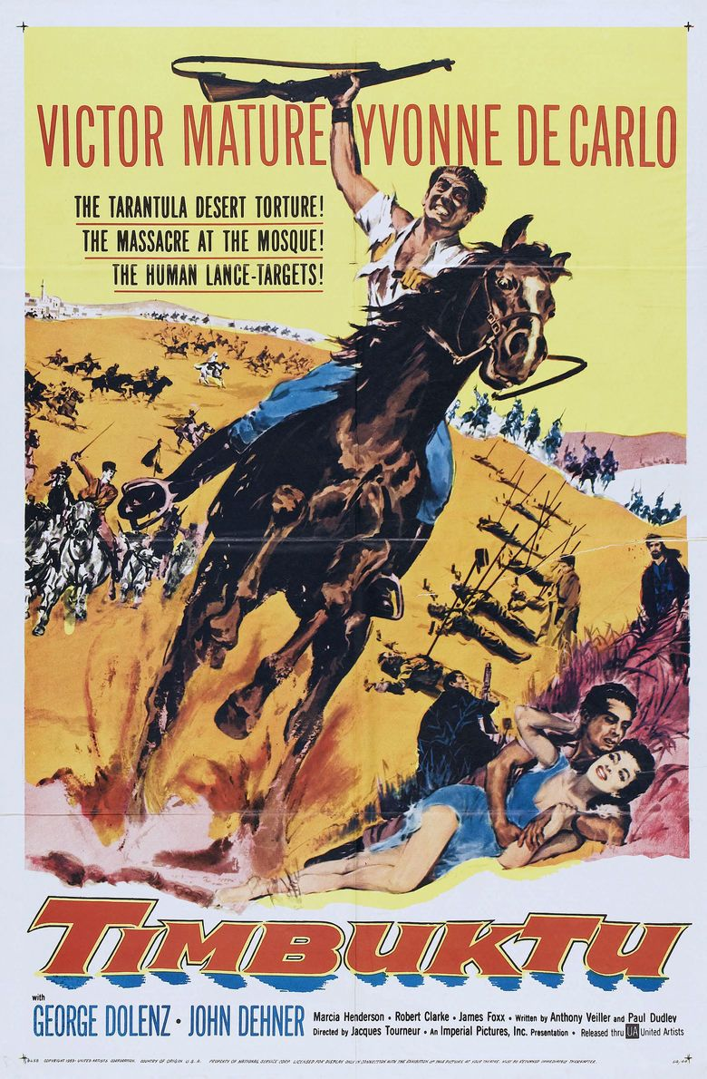 Timbuktu (1959 film) movie poster