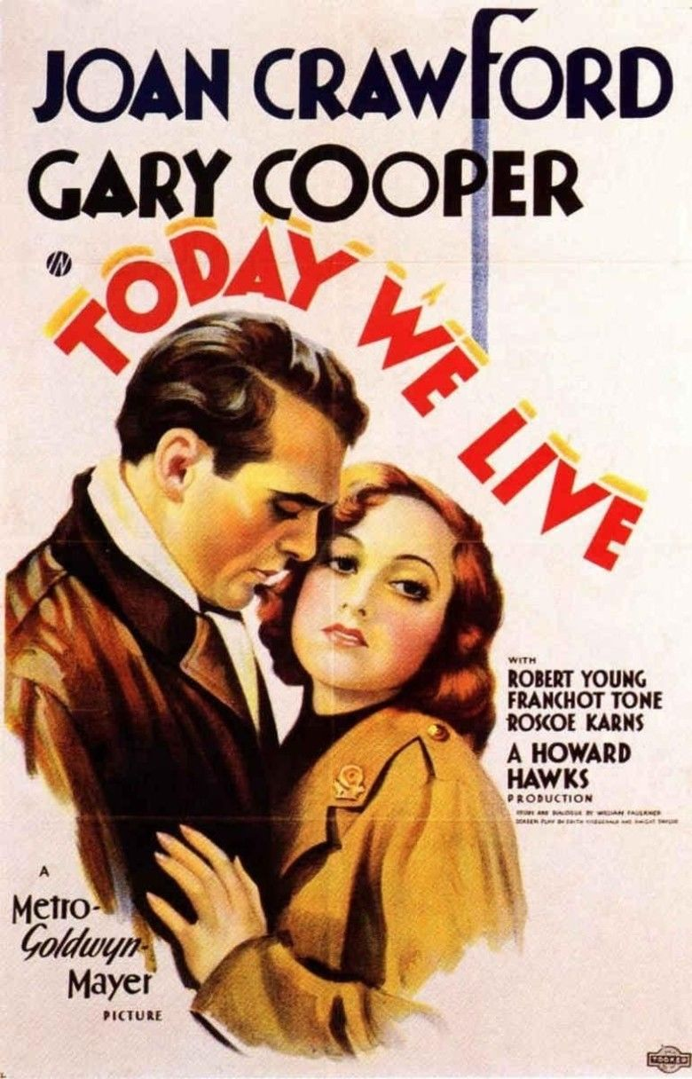 Today We Live movie poster