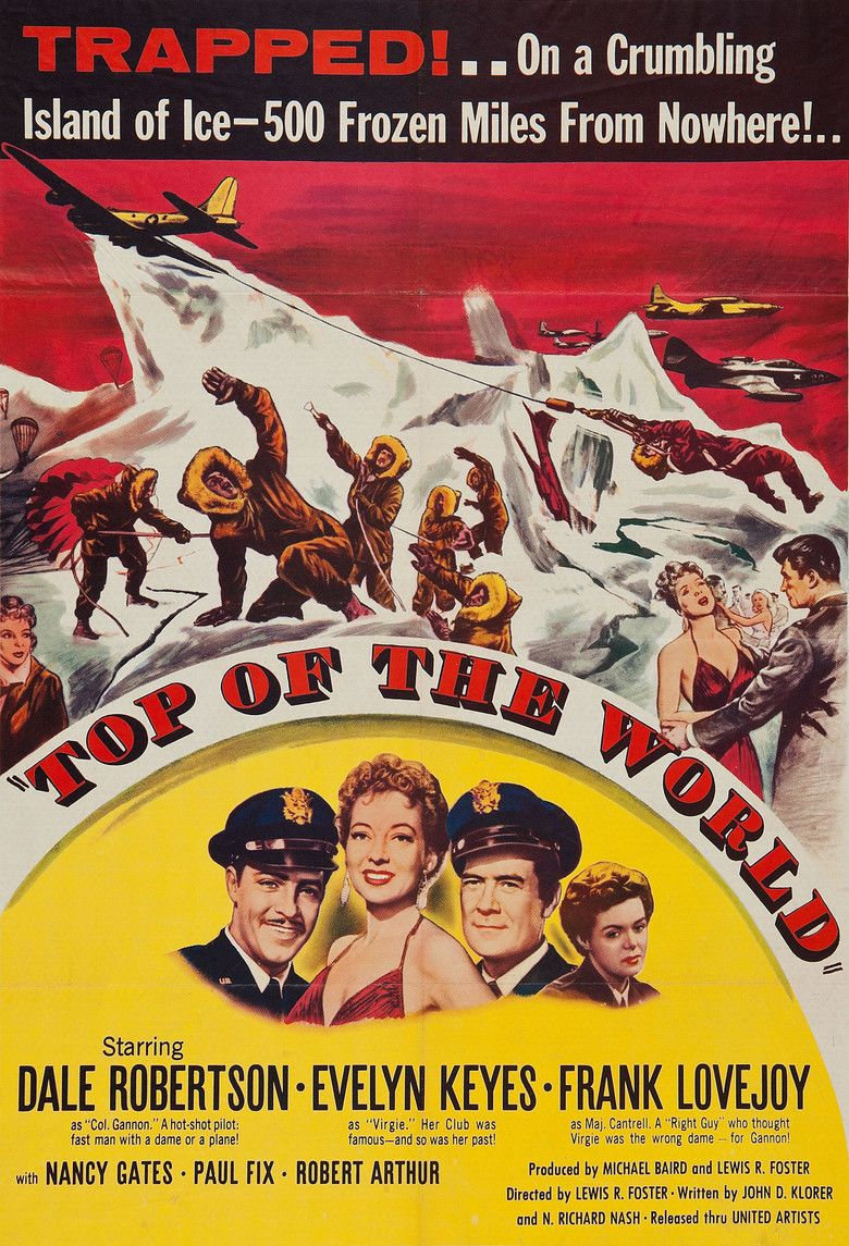 Top of the World (1955 film) movie poster