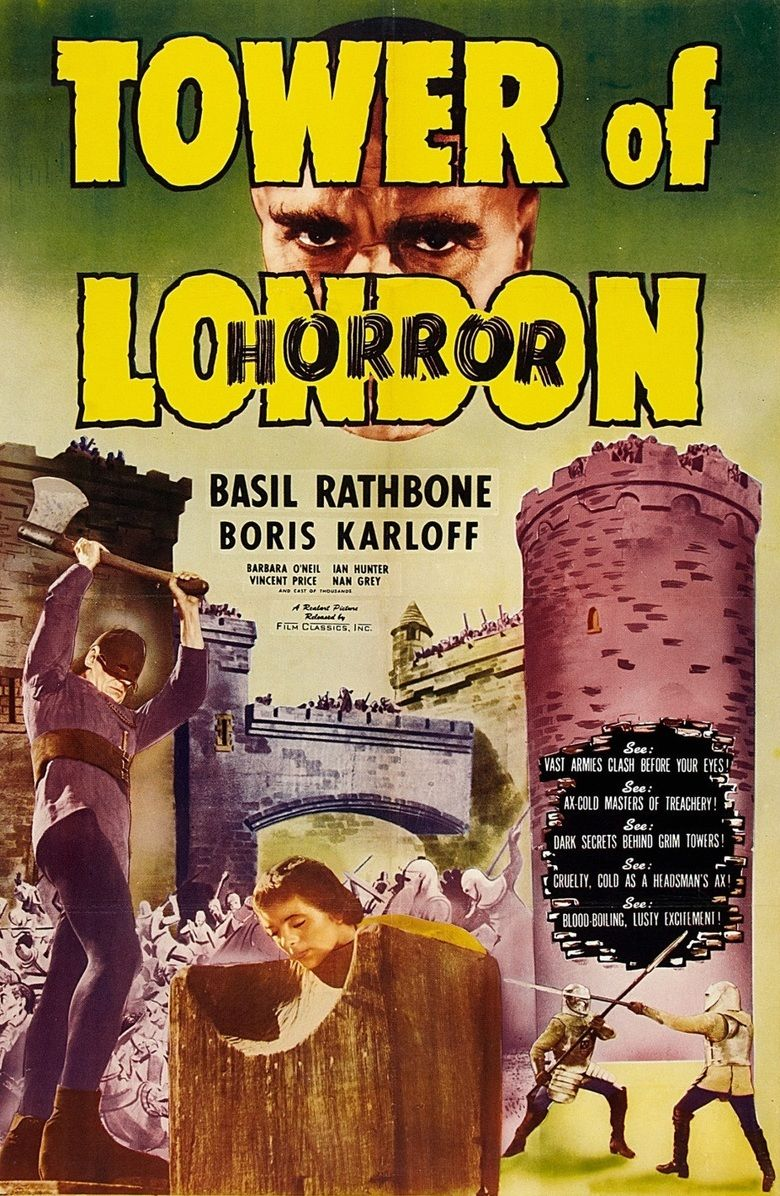 Tower of London (1939 film) movie poster