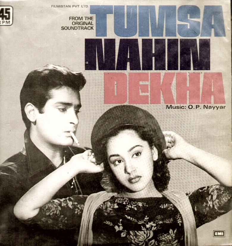 Tumsa Nahin Dekha (1957 film) movie poster