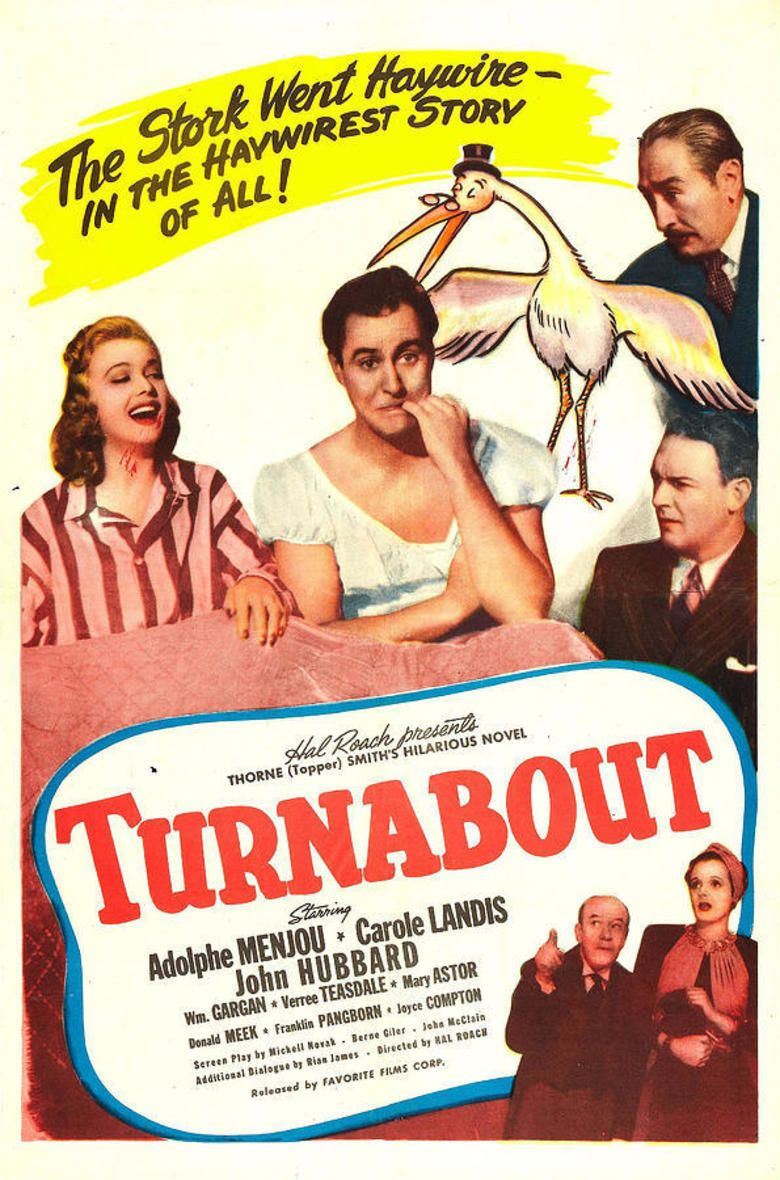 Turnabout (film) movie poster