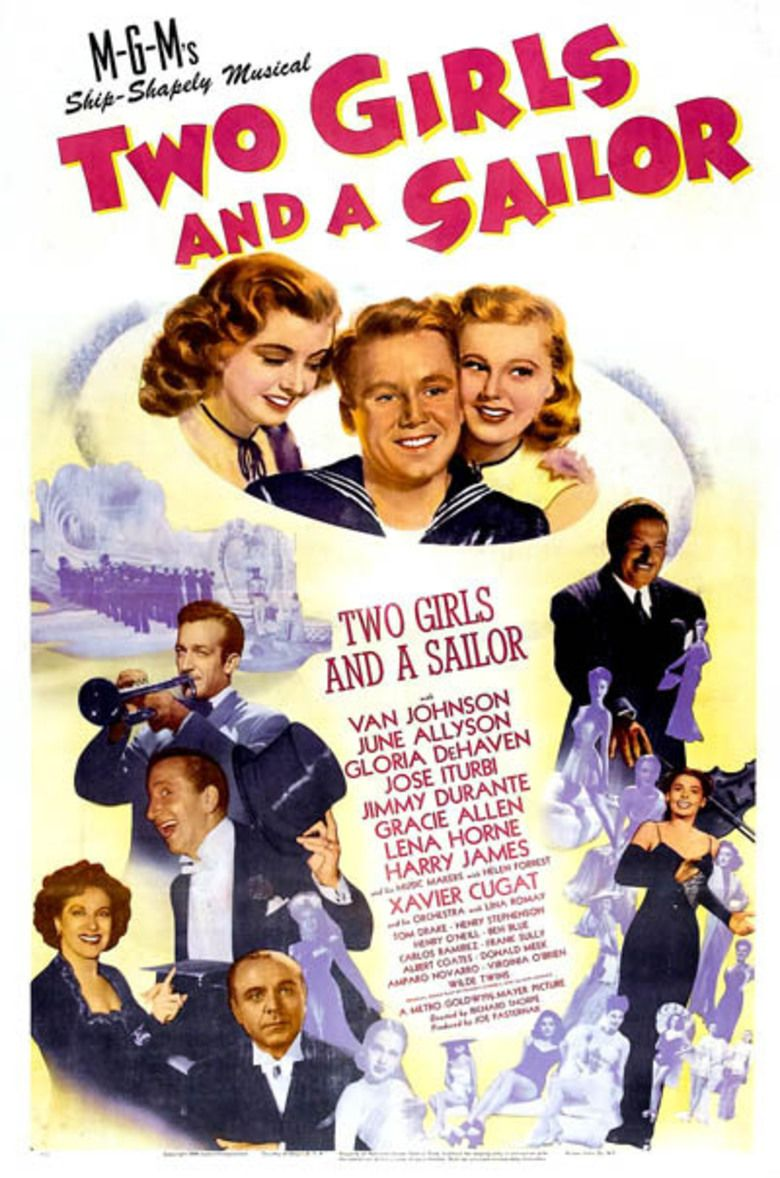Two Girls and a Sailor movie poster