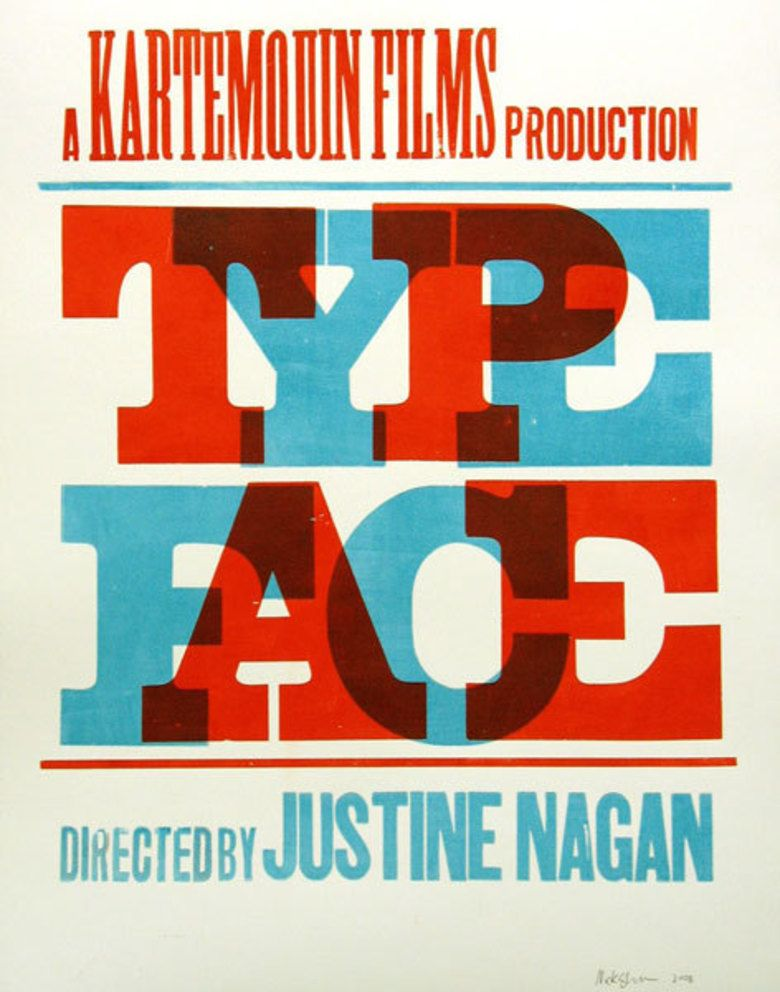 Typeface (film) movie poster
