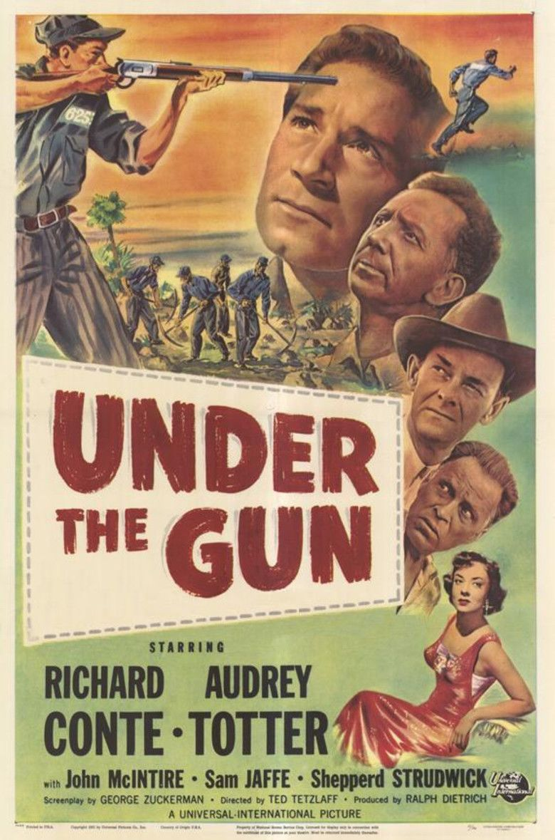 Under the Gun (1951 film) movie poster