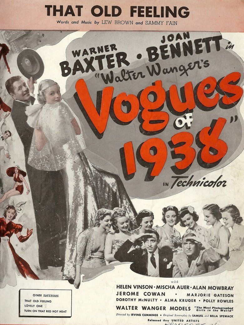Walter Wangers Vogues of 1938 movie poster