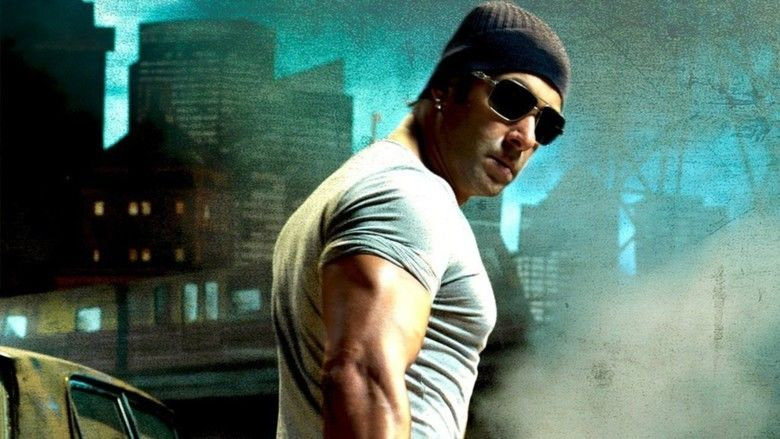 Salman Khan wearing black shades, a black beanie, and a gray t-shirt in the 2009 film Wanted