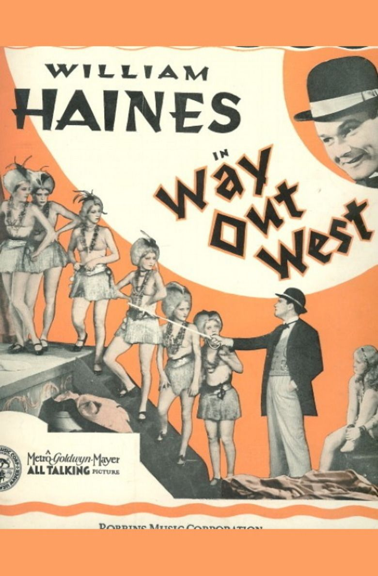 Way Out West (1930 film) movie poster