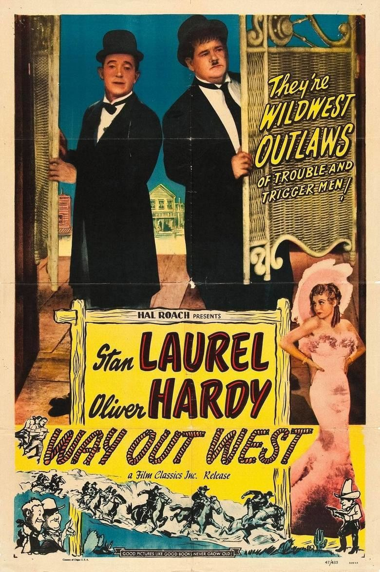 Way Out West (1937 film) movie poster