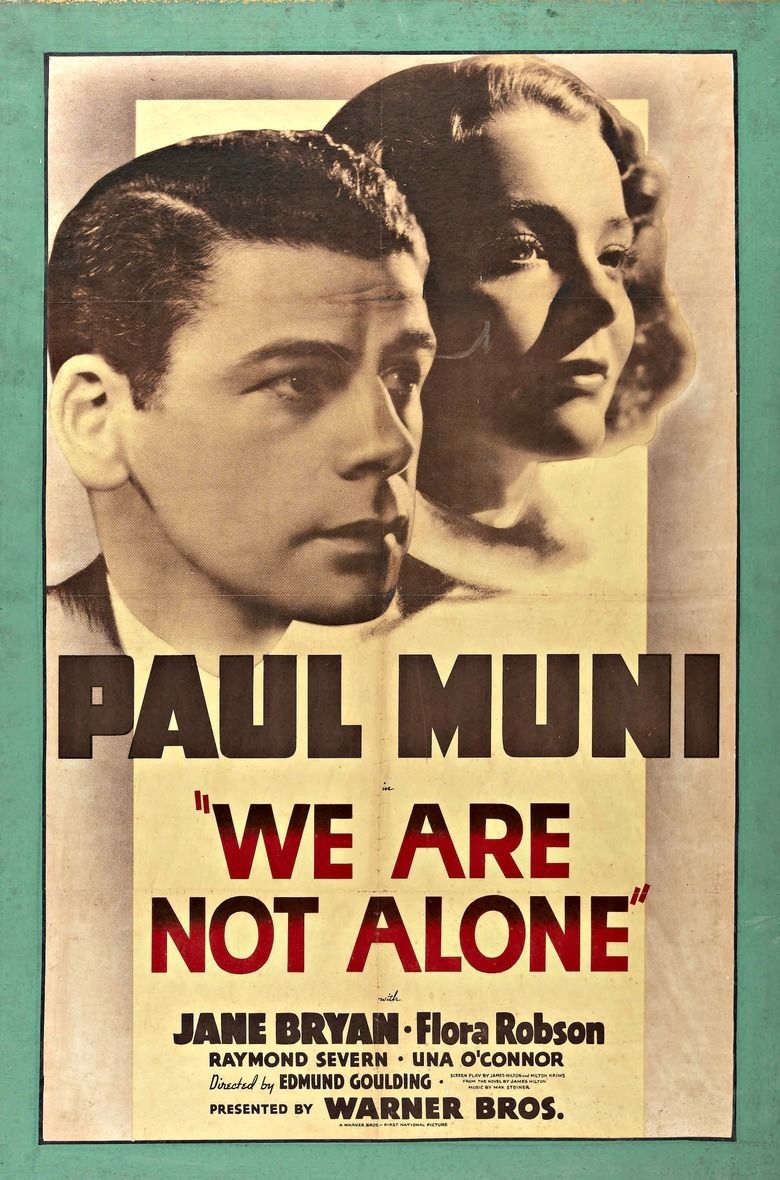 We Are Not Alone (1939 film) movie poster