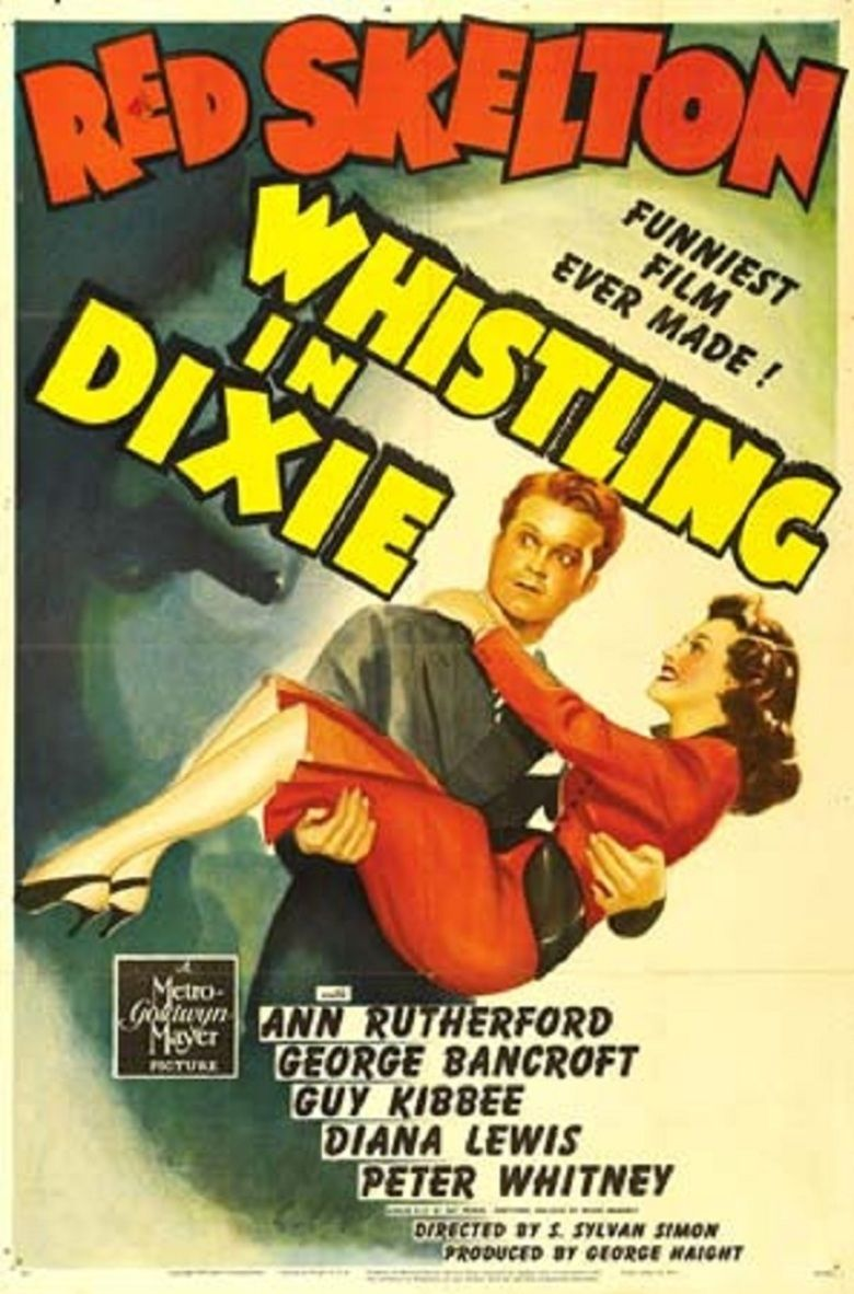 Whistling in Dixie movie poster