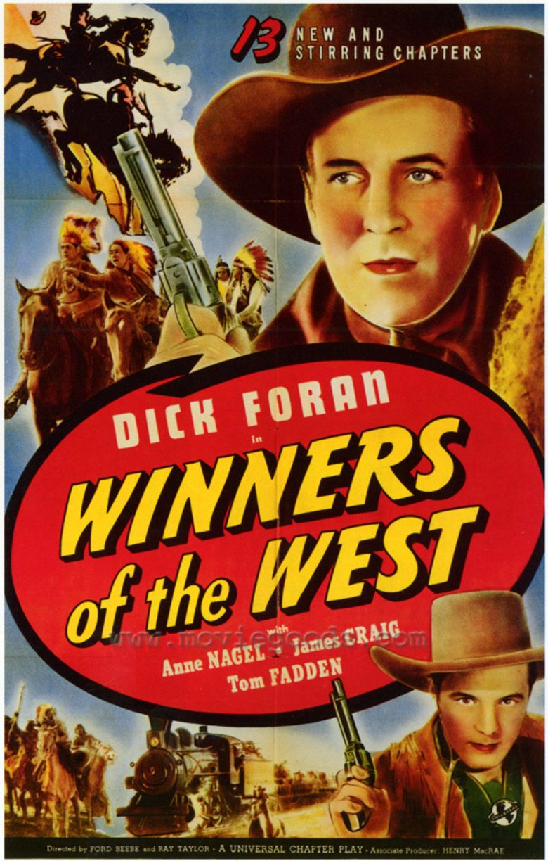 Winners of the West (1940 serial) movie poster