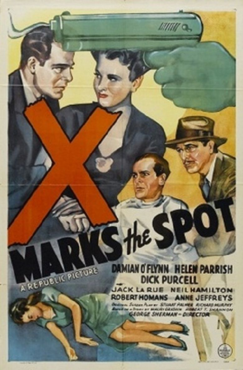 X Marks the Spot (1942 film) movie poster
