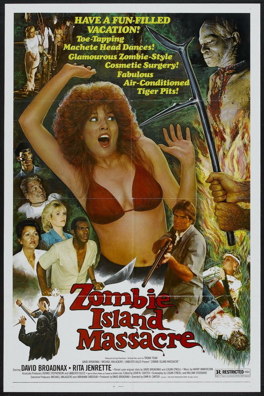 Zombie Island Massacre movie poster