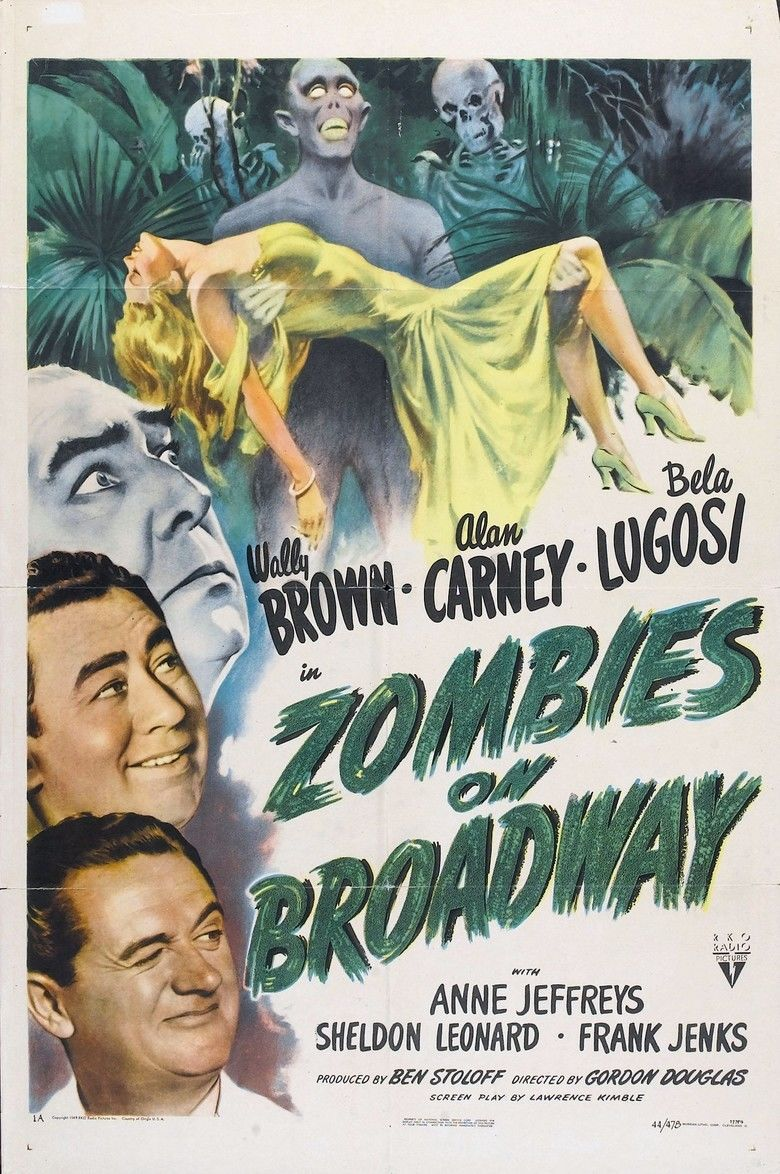 Zombies on Broadway movie poster