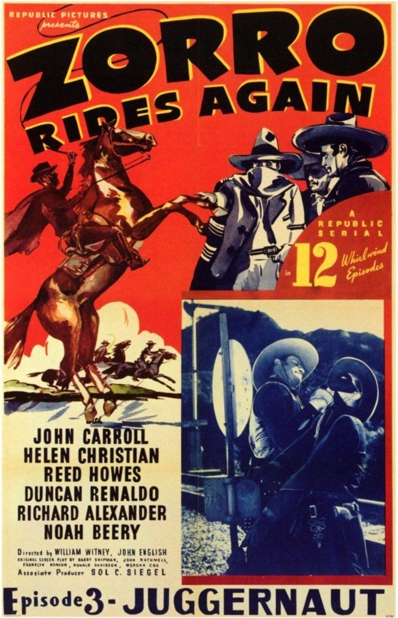 Zorro Rides Again movie poster