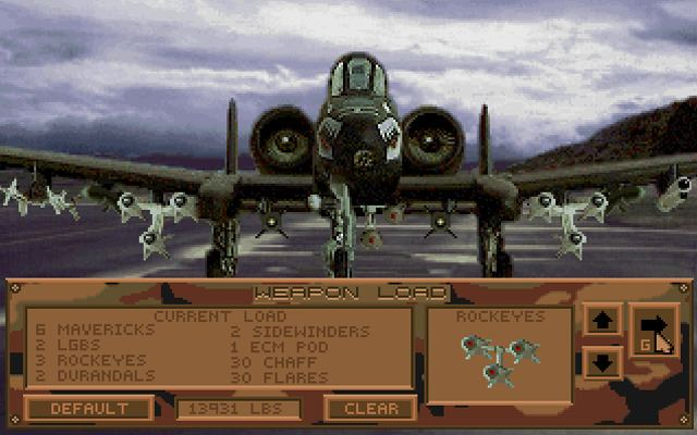 A-10 Tank Killer A10 Tank Killer 1989Dynamix Game lt DOS Games Emuparadise