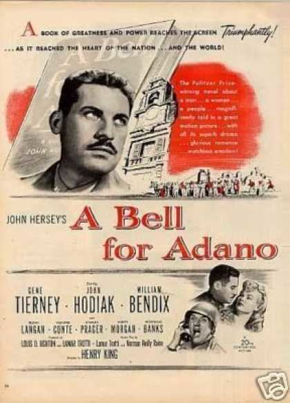 A Bell for Adano A Bell For Adano Gene Tierney William Bendix 1945 Histomilcom