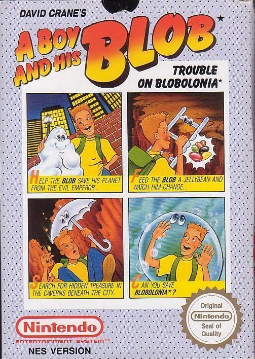 A Boy and His Blob: Trouble on Blobolonia David Crane39s A Boy and His Blob Trouble on Blobolonia Box Shot for