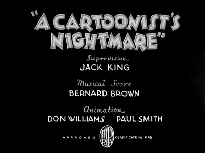 A Cartoonist's Nightmare Likely Looney Mostly Merrie 114 A Cartoonists Nightmare 1935