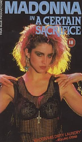 A Certain Sacrifice Madonna A Certain Sacrifice UK video VHS or PAL or NTSC 55453