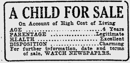 A Child for Sale FileA Child for Sale 1920 film adjpg Wikimedia Commons