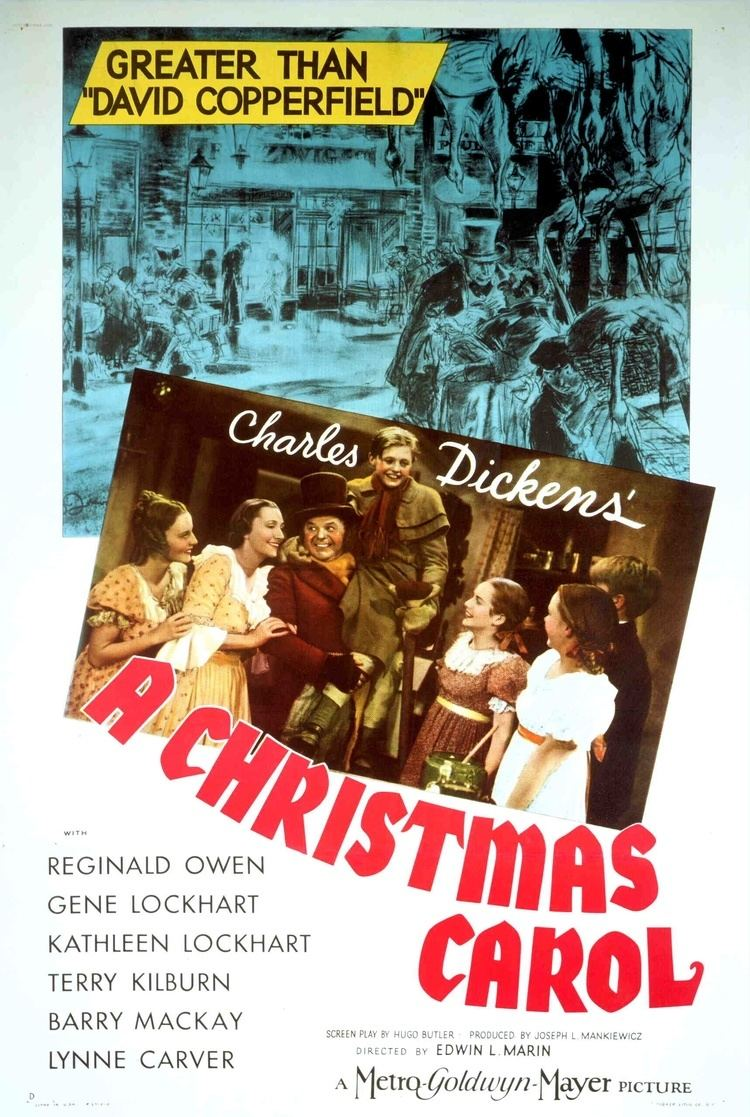 A Christmas Carol (1938 film) A Christmas Carol 1938 starring Reginald Owen Gene Lockhart