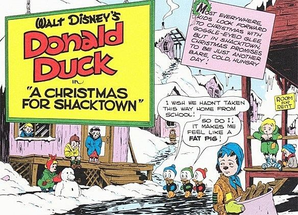 A Christmas for Shacktown Bizarro Back Issues Donald Duck In 39A Christmas For Shacktown39 1952