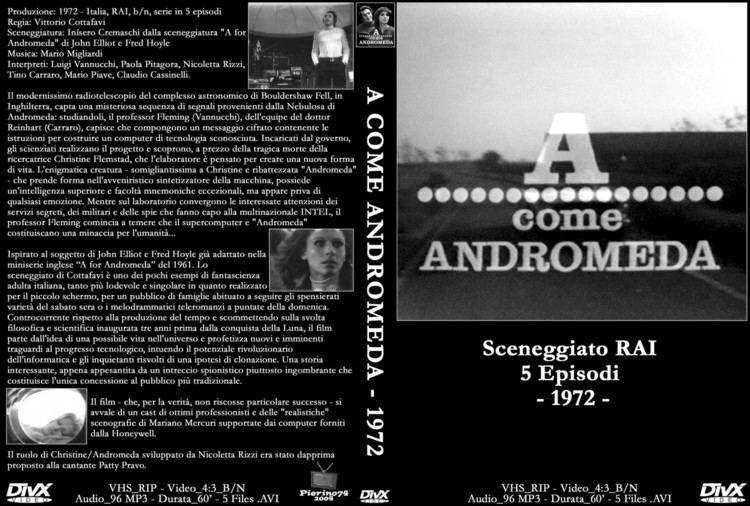 A come Andromeda Copertina dvd A come Andromeda cover dvd A come Andromeda
