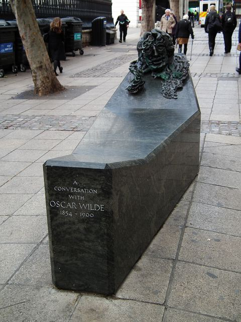 A Conversation with Oscar Wilde Is The Oscar Wilde Memorial A Bench Londonist
