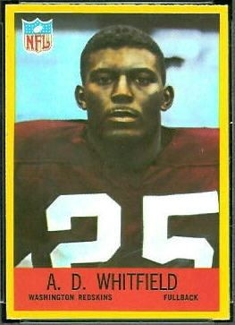 A. D. Whitfield wwwfootballcardgallerycom1967Philadelphia191