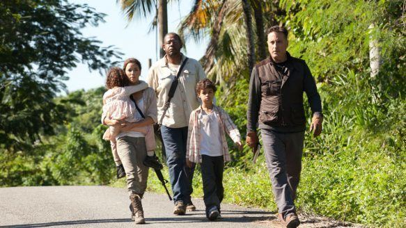 A Dark Truth movie scenes Eva Longoria left and Forest Whitaker play eco revolutionaries and Andy Garcia