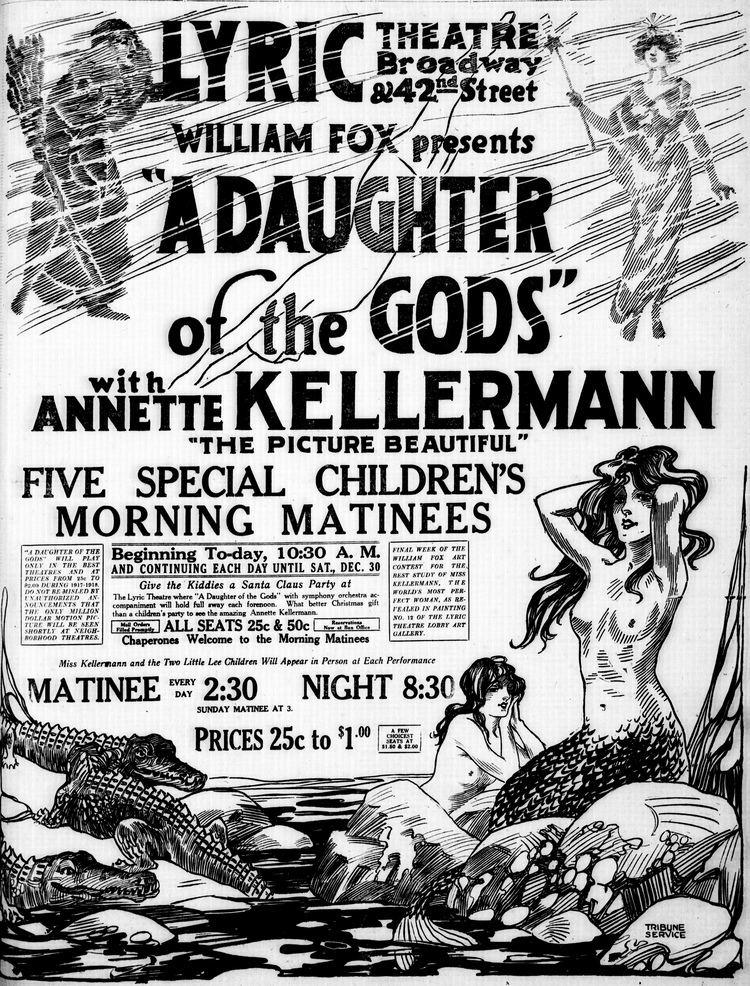A Daughter of the Gods A Daughter of the Gods newspaper ad 1916 vintage mermaid