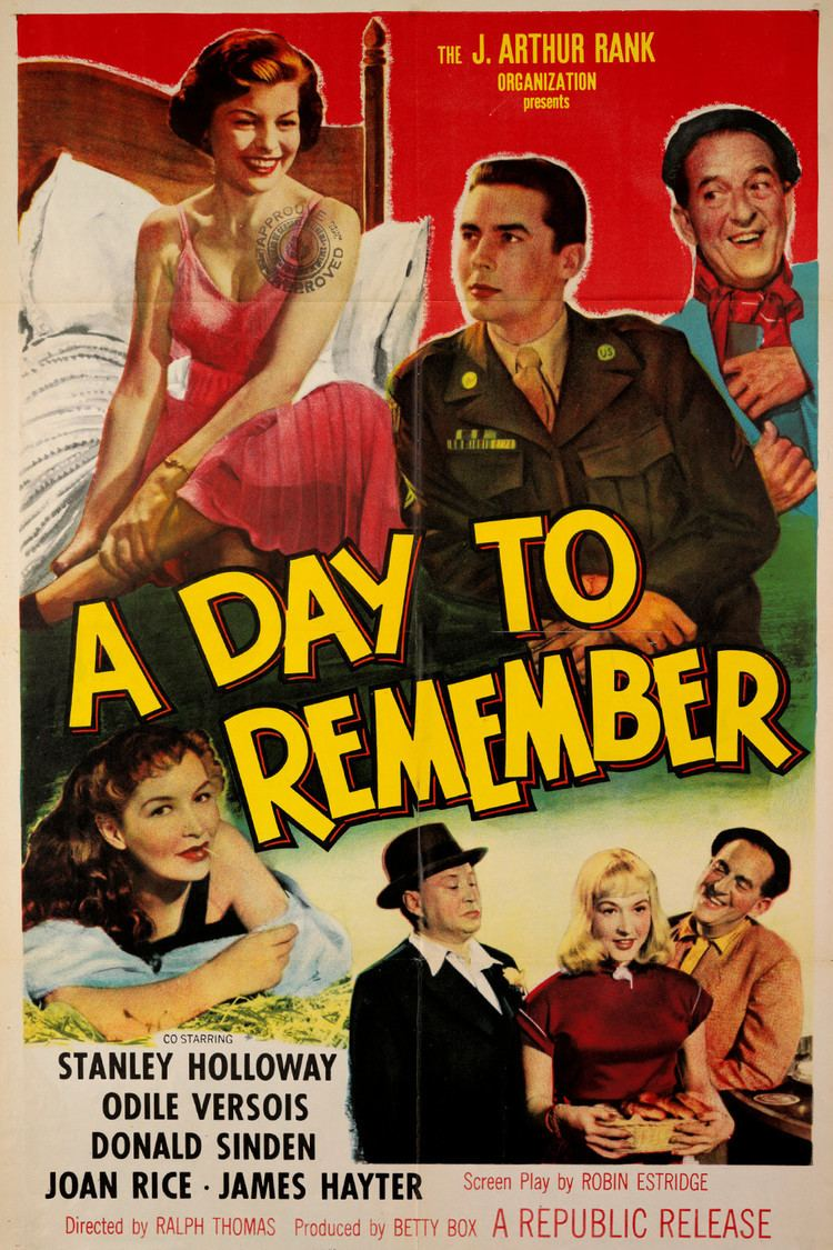 A Day to Remember (1953 film) wwwgstaticcomtvthumbmovieposters66180p66180