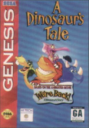 A Dinosaur's Tale We39re Back A Dinosaur39s Tale Box Shot for Genesis GameFAQs
