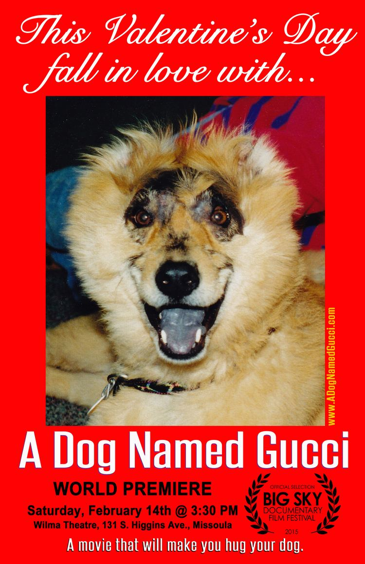 A Dog Named Gucci The World Premiere of A DOG NAMED GUCCI Guy With Typewriter
