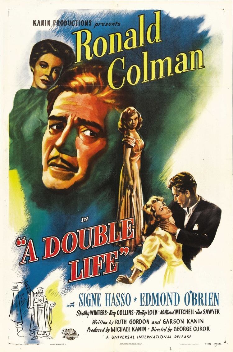 A Double Life (1924 film) A Double Life 1947 Film Noir of the Week