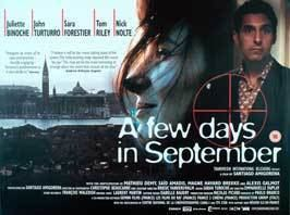 A Few Days in September A Few Days in September Movie Posters From Movie Poster Shop
