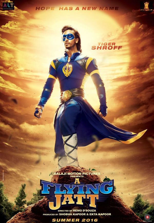 A Flying Jatt A Flying Jatt poster Tiger Shroff looks slick as a superhero