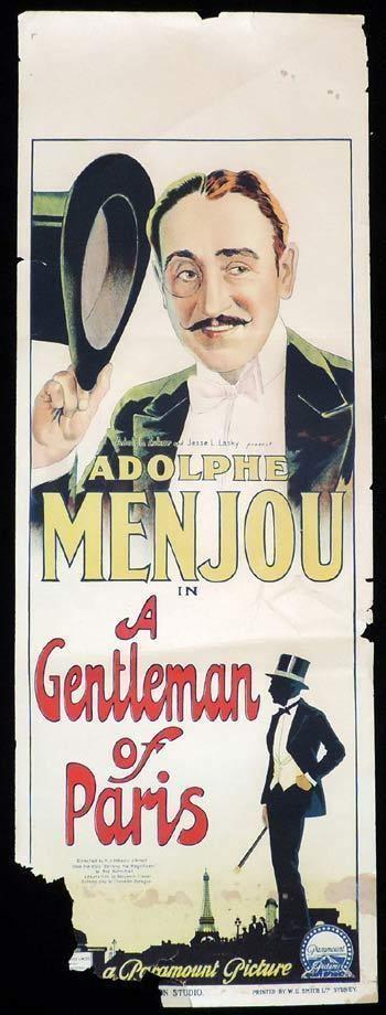 A Gentleman of Paris (1927 film) A GENTLEMAN OF PARIS Long Daybill Movie poster 1927 Richardson