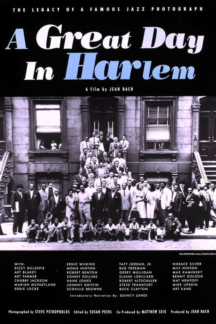 A Great Day in Harlem (film) wwwgstaticcomtvthumbmovieposters16952p16952