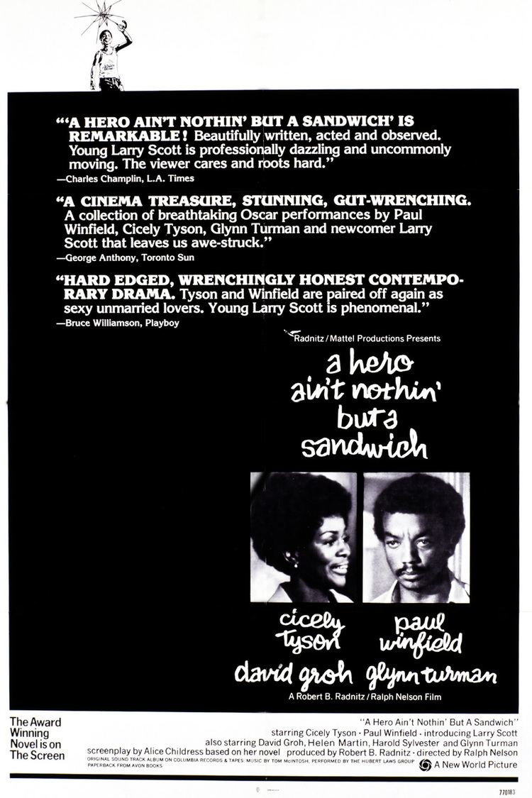 A Hero Ain't Nothin' but a Sandwich (film) wwwgstaticcomtvthumbmovieposters6352p6352p
