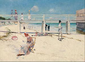 A holiday at Mentone httpsuploadwikimediaorgwikipediacommonsthu
