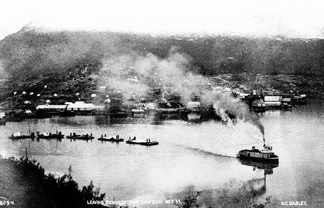 A. J. Goddard The AJ Goddard leaving Bennett for Dawson City in September 1899
