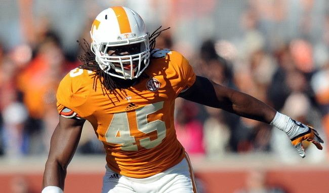 A. J. Johnson (linebacker) AJ Johnson Tennessee Inside Linebacker